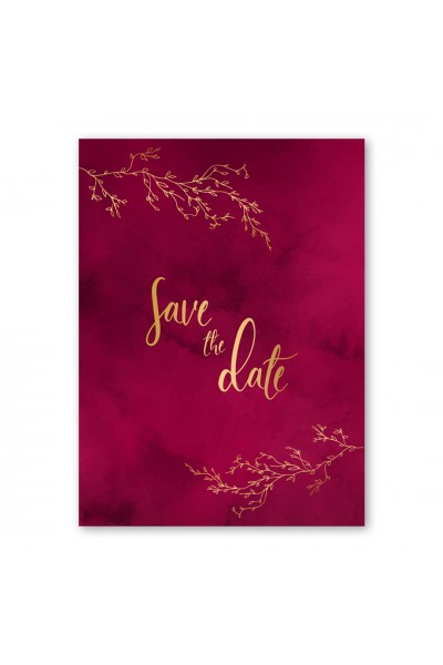 Holy Burgundy Προσκλητήριο Γάμου