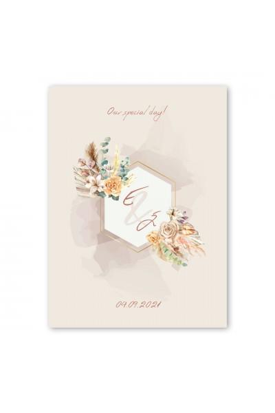 Pale Flowers Προσκλητήριο Γάμου
